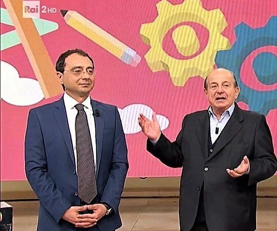 RAI 2, Luca Falace, GeniusOm. Giancarlo Magalli RAI 2, Martedì 11 Aprile 2017.